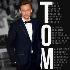 Tom Hiddleston *Perfection