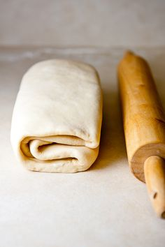 A relatively easy recipe for croissants to make at home. This recipe explains how to perfect your laminating technique (to get all those beautiful layers) wonderfully! Another (former) pastry chef approves this recipe. -Lindsey Renner