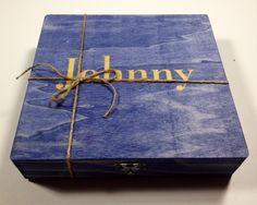 Groomsmen Gift Rustic Felt Lined Cigar Box  by TheSmilinBride