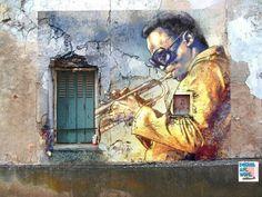 Miles Davis. street art(?)