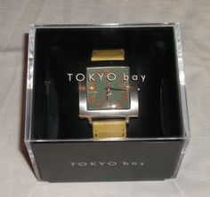 TOKYO Bay TRAM Watch Green Square Face with Yellow Leather Band  IN BOX! | Jewelry & Watches, Watches, Parts & Accessories, Wristwatches | eBay!