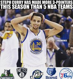 Stephan has made more 3 pointers than these 5 teams Basketball Memes, Love And Basketball, Sports Memes, Basketball Players, Basketball Stuff, Funny Nba Memes, Stephen Curry Pictures, Curry Warriors, Nba Champions