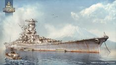 Yamato Battleship World of Warships illustration by KrIM-art.deviantart.com on @deviantART