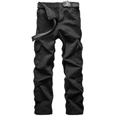 34.99$  Watch now - http://dikqa.justgood.pw/go.php?t=175994624 - Loose Fit Straight Leg Multi-Pocket Solid Color Men's Zipper Fly Cargo Pants 34.99$
