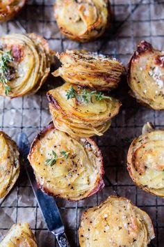 Crispy Cheesy Potatoes Stacks.