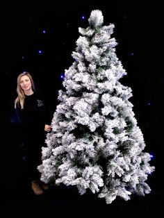 Snowy Tree - Extra Large - Type 2 | Christmas Market Party Theme | Christmas Market Party Theming Hire | Event Prop Hire