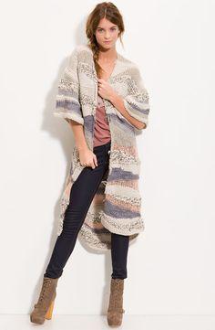 Free People Kimono Knit Oversized Cardigan Sweater, Style Stains