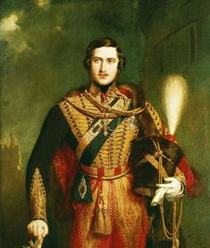 Prince Albert of Saxe-Coburg and Gotha, by John Partridge, 1840. Painted in the year of the wedding, this romantic portrait of Albert portrays him as the ultimate bridegroom-prince. No wonder Victoria was dazzled!