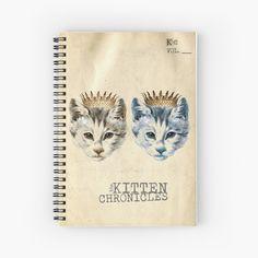 Notebook Design, My Notebook, Fashion Room, Top Artists, Crowns, Vintage Designs, Spiral, Kitten, My Arts
