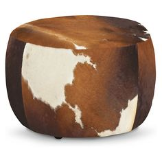 Lind Modern Cowhide Round Ottomans - Modern Benches & Stools - Modern Bedroom Furniture - Room & Board