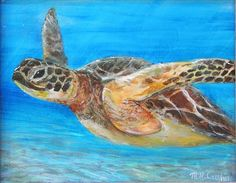 acrylic paintings of sea turtles | Sea Turtle Painting by Mike McCaughin - Sea Turtle Fine Art Prints and ...