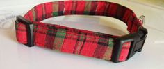 Red & Green Plaid Dog and Cat Christmas Collar