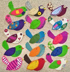 Angela Anderson Art Blog: Polymer Clay Bird Ornaments - Kids Art Class