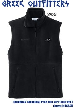 Greek Outfitters Pi Kappa Alpha Columbia Cathedral Peak Full-Zip Fleece vest #grafcow