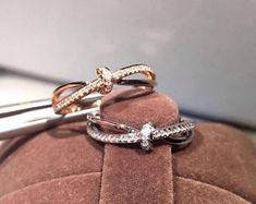 Gem Select Crafts Simple Knot Diamond White or Rose Gold Ring Black Diamond Jewelry, Gold Diamond Rings, Diamond Gemstone, Gemstone Jewelry, Gold Rings, Jewelry Shop, Custom Jewelry, Fine Jewelry, Jewelry Design