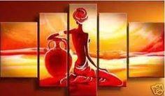 Resultado de imagem para pintura africana abstrata                              …