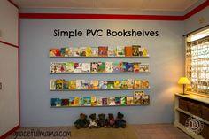 Simple PVC Bookshelves!