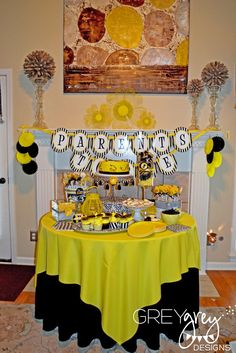 """Bee themed """"BaBEE shower"""" what's it gonna BEE. Mama to BEE.  BEE diaper cake possibly?"""