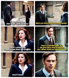 Agent Peggy Carter and Edwin Jarvis