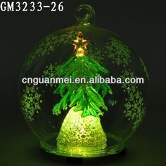 Best Hanging Clear Glass Ball Christmas Ornament With Tree And Led - Buy Christmas Ornament,Christmas Decoration,Christmas Tree Ball Product...