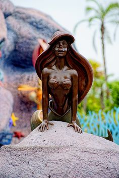Ariel statue at disney world