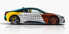 BMW + garage italia customs pay homage to the memphis group from 1980s