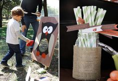 I think I will attempt to make this bean bag toss game for my boys birthday. :)