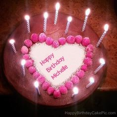 Wish your bua aunt on her birthday history pinterest write name on candles heart happy birthday cake bookmarktalkfo Image collections