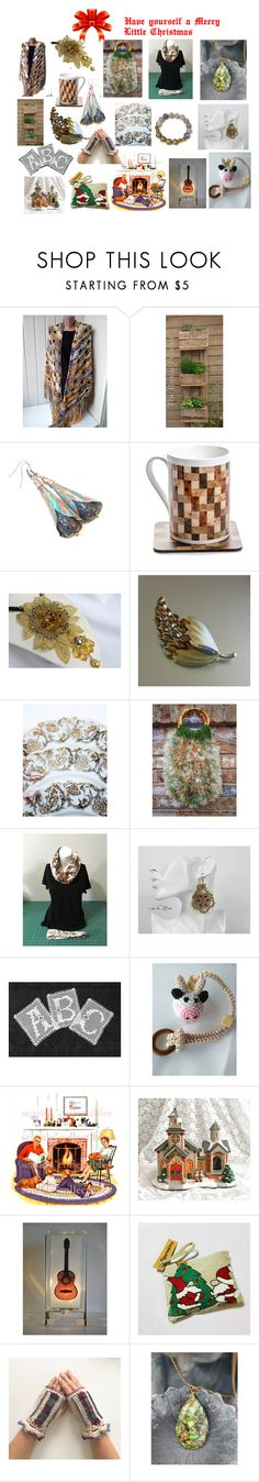 Have Yourself a Merry Little Christmas! by cozeequilts on Polyvore featuring rustic
