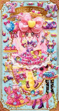 kawaii candy dresses dress up doll 3D stickers