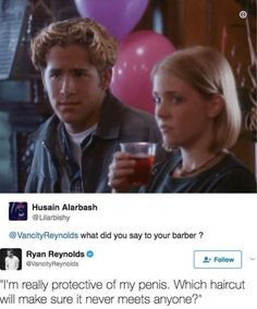 10 Times Ryan Reynolds Gifted The World A+ Witticisms And Banter - So Funny Epic Fails Pictures Ryan Reynolds Tweets, Ryan Reynolds Deadpool, Shia Labeouf, Logan Lerman, Amanda Seyfried, Interview, Funny Moments, Funny Things, Funny Stuff