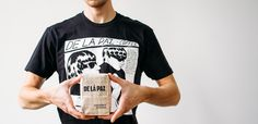 De La Paz Coffee bag and t-shirt