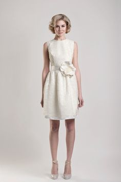 Dare to show off your pins with a raised hemline on W-day - love the shoes
