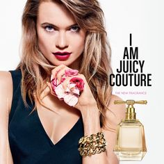 Behati Prinsloo for I Am Juicy Couture 3.4 oz EDP for women.