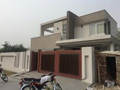 """[restabs alignment=""""osc-tabs-left"""" responsive=""""true"""" icon=""""true"""" text=""""More"""" tabcolor="""" tabheadcolor="""" seltabcolor="""" Modern Exterior House Designs, Modern Architecture House, Exterior Design, Architecture Design, Village House Design, Bungalow House Design, House Front Design, Compound Wall Design, Double Storey House"""