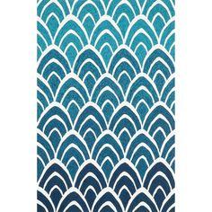 $82.44 Hand-hooked Indoor/ Outdoor Capri Blue/ Multi Rug (3'6 x 5'6) - Overstock Shopping - Great Deals on Alexander Home 3x5 - 4x6 Rugs