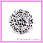 View Diamante Cluster Button Small
