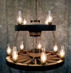Casthorn Double Wagon Wheel Chandelier | Rustic Lighting and Fans