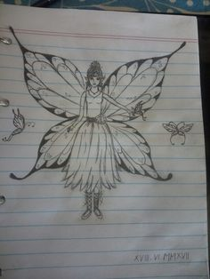 Drawing Fairy  #fairy #drawing #butterflies