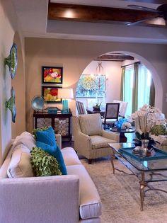 pinterest family room decorating | Pops of Color: Family room design | IBB Design Fine Furnishings