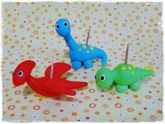 Cris Ubara - Biscuit para festas: Porta docinhos mini dinossauros