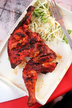 Mukhys grilled tandoori chicken and sauces you cant resist! http://migrationology.com/2014/01/mukhys-cafe-stone-town-zanzibar/