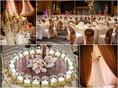 Gold Indian wedding reception - follow us on http://www.pinterest.com/proimagegroup