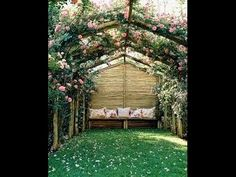 Jardines decorados con Pergolas Para admirar