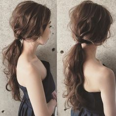 Lazy low ponytail elegant and good-looking Ponytail Hairstyles, Bride Hairstyles, Pretty Hairstyles, Wedding Hair And Makeup, Bridal Hair, Hair Makeup, Flower Crown Hairstyle, Hair Arrange, Hair Setting
