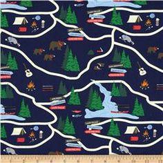 Vintage camping motifs