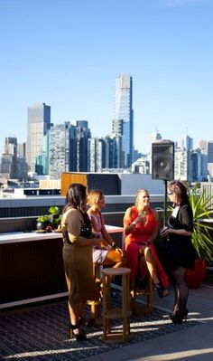 Outdoor Space - Private event with catering by food&desire and remarkable views of Melbourne CBD.
