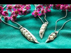 The Vintage Pearl Sweet Peas in the Pod Necklace