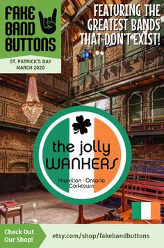 Punk Band Button, Featuring The Jolly Wankers, Perfect For St Patrick's Day Band Logo Design, Cool Kids Club, Driving Force, Tell The World, All Songs, Band Logos, Great Bands, Lent, How To Know