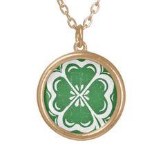 Lucky Clover Necklace; Abigail Davidson Art